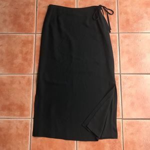 Banana Republic Silk Slit Sides Tie Maxi Skirt 12